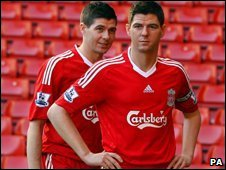 Steven Gerrard and his waxwork
