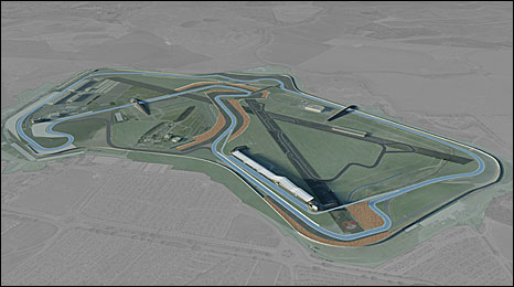 The new 'Arena' layout at Silverstone