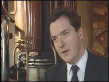 George Osborne at the SA Brain brewery in Cardiff