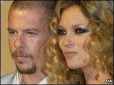 Alexander McQueen and Kate Moss