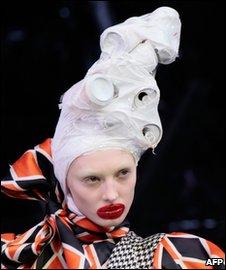 Model in outlandish make-up
