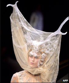 McQueen model with antlers on head