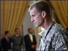 Gen Stanley McChrystal in Kabul, Jan 2010