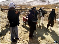 Taliban fighters in Ghazni province, January 2010