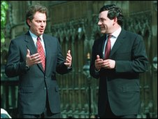 Tony Blair and Gordon Brown in 1984