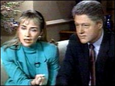 Bill and Hillary Clinton deny the Gennifer Flowers allegations