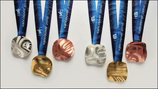 Vancouver Olympic medals