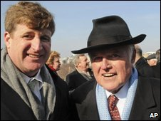 Patrick Kennedy (left) with the late Edward Kennedy, January 2009