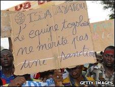 Togolese protestors