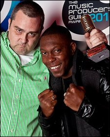 Dizzee Rascal and producer Nick Denton
