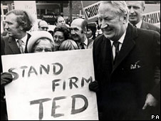 Ted Heath on the campaign trail in 1974