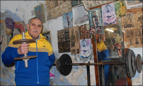Mohammed Shehadeh in his Jenin gym