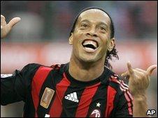 AC Milan player Ronaldinho