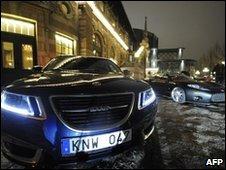 A Saab and a Spyker