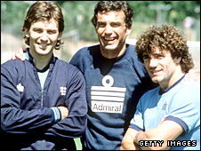 Bryan Robson, Trevor Brooking and Kevin Keegan