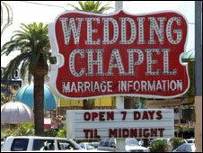 A Las Vegas wedding chapel