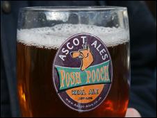 Ascot Ales pint glass