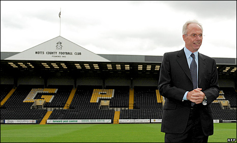 Former Notts County director of football Sven-Goran Eriksson
