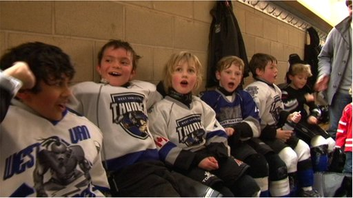Young hockey players