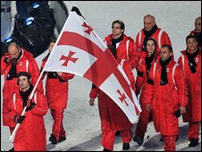 Georgian team at opening ceremony