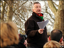 Billy Bragg at Speakers' Corner