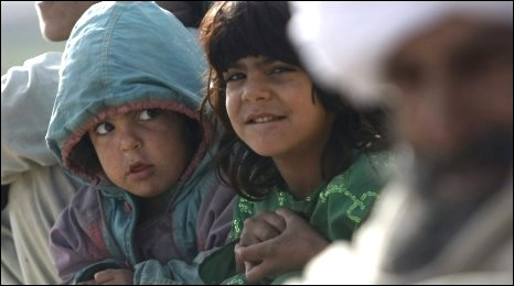 Afghan civilians near Lashkar Gah during US operation backing Moshtarak on 13 February 2010