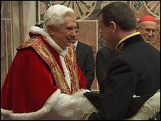 Francis Campbell meets Pope Benedict
