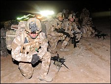 British soldiers involved in Operation Moshtarak at Camp Bastion (13 February 2010) (Photo: Ministry of Defence)