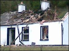 House damaged in Enniskillen explosion