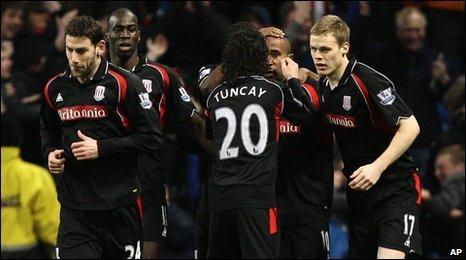 Stoke players celebrate