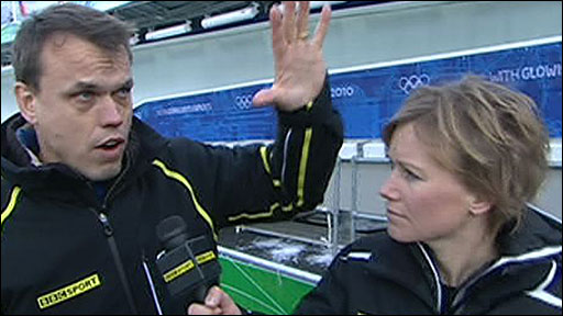 BBC Sport's Colin Bryce and Lizzie Greenwood-Hughes