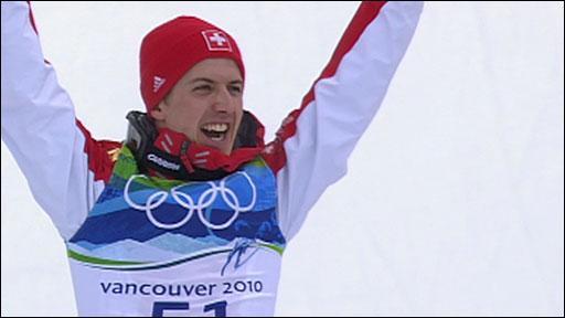 Switzerland's Simon Ammann wins ski jump gold