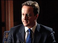 David Cameron, speaking to the BBC