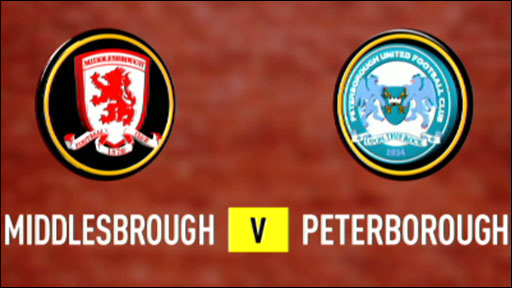 Middlesbrough 1-0 Peterborough