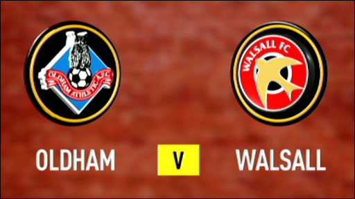 Oldham 1-0 Walsall