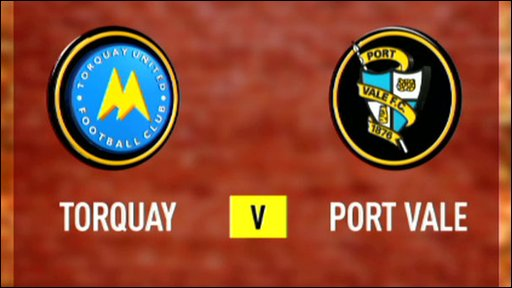 Torquay 1-2 Port Vale