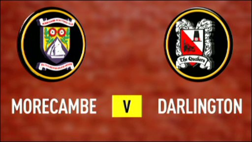 Morcambe 2-0 Darlington