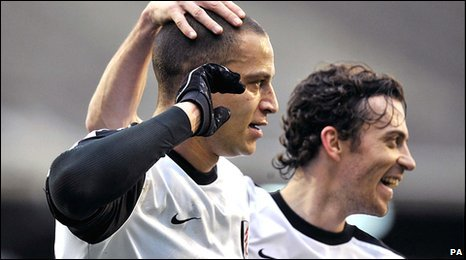 Bobby Zamora (left) and Simon Davies (right)