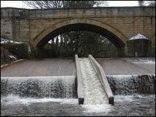Fish pass at Allenmill Bridge