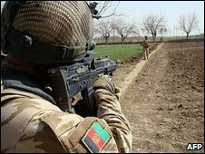 Afghan troops in Helmand 15.2.2010