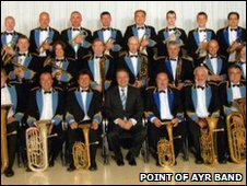 Point of Ayr band feature on a CD album, picture courtesy the band via their Facebook profile