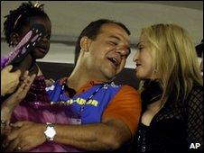 Madonna and Rio's Governor Sergio Cabral