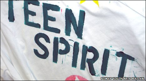 T-shirt created at Powys event
