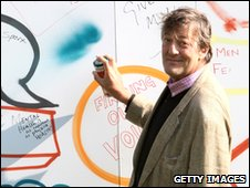 Stephen Fry during a photocall for a mental health charity