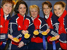Britain's gold-medal winning curling team