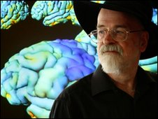 Terry Pratchett at a neuro-imaging laboratory at UCLA, 2009