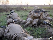 UK troops in Nad Ali district, Helmand province, Afghanistan. Ministry of Defence photo - 13 February 2010