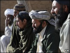 Afghan elders at a meeting with Nato troops - undated Ministry of Defence photo