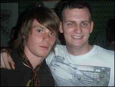 Michael Hobson with his friend Joe who passed away in 2009