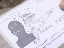 A fake identity card